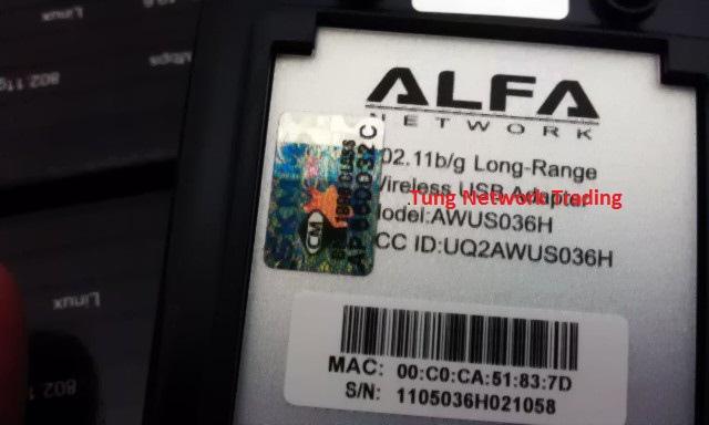 COMBO Alfa AWUS036H Usb Wifi Adaptor Wi-Fi DEAL 3 antennas MOR..